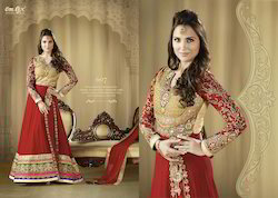Georgette Indian Designer A-Line Suit
