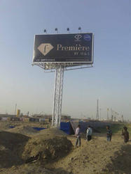 Big Hoarding Unipole Advertising Service