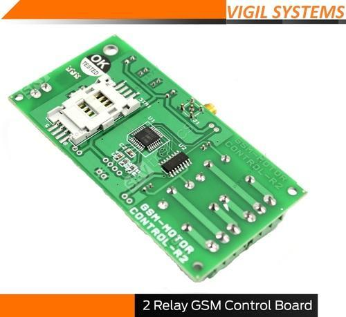 GSM Base On and Off Systems - GSM Control Board with 2 relay on/off