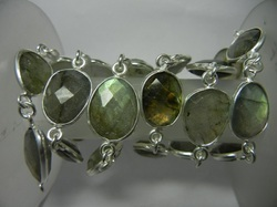 Labradorite Gemstone Bezel Connector Chain