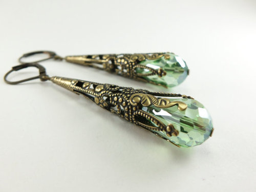Green Onyx Sterling Silver Overlay 6 grams Earring 1.5 Long Friends Gift Jewelry