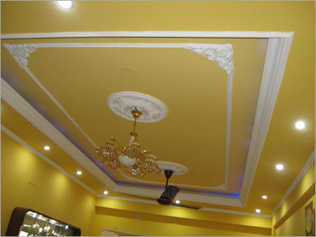 False Ceiling Work Wooden Ceiling With Gyp Board False
