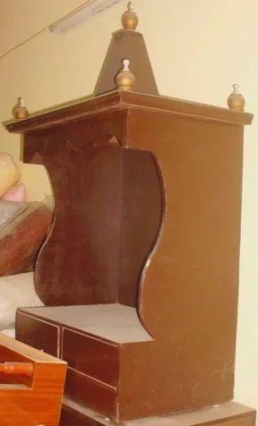 Simple wooden mandir design for home.