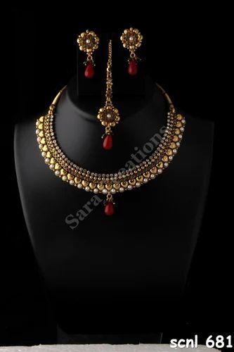Antique Look Gold Bridal Sets Antique Gold Necklace Sets