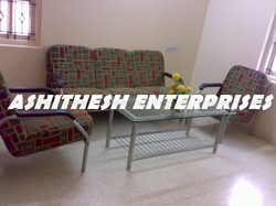Mild Steel Ashitesh Sofa, Living Room