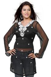 Black Embroidered Kurti