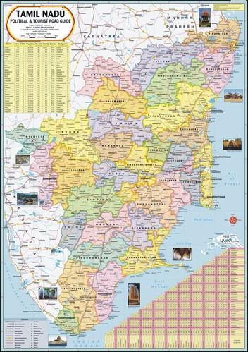 Tamil nadu map at rs 110 piece daryaganj new delhi id 7603764330 tamil nadu map gumiabroncs Image collections
