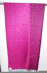 Pink Designer Woven Stoles