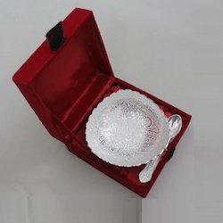 Silver Plated T Bowl with Spoon