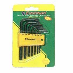Eastman 7 Pcs Temper Star Allen Keys Set - Short Pattern