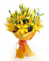 Yellow Lilly Hand Bunch