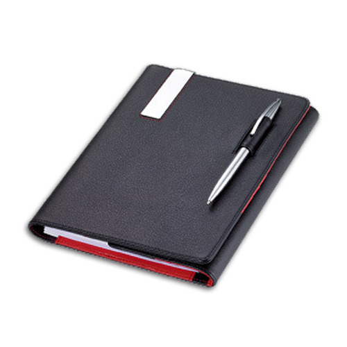 Black Premium Dairy PU Leather Pen Diary, For Daily Notes, Yearly ...