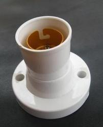 MARC Plastic BATTEN BULB HOLDER METAL RING, For Electrical Fitting, Base Type: B22