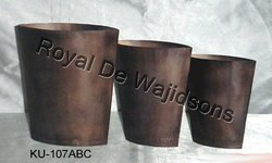 Designer Vase Oval Copper Finish