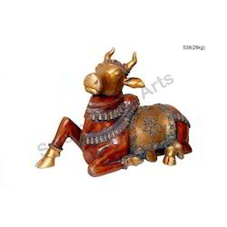Decorative Statues Brass Idol Nandi