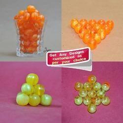 Handmade Smoky Plain Resin Beads