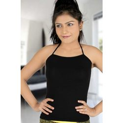 Ladies Black Spaghetti Top