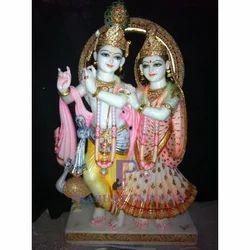 Marble Fabricated Radha Krishna Statue