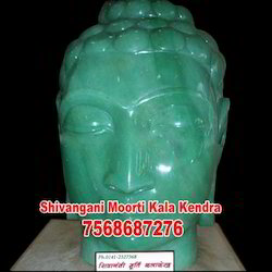 Green Stone Buddha Head