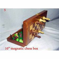 Wooden Magnetic Chess Board