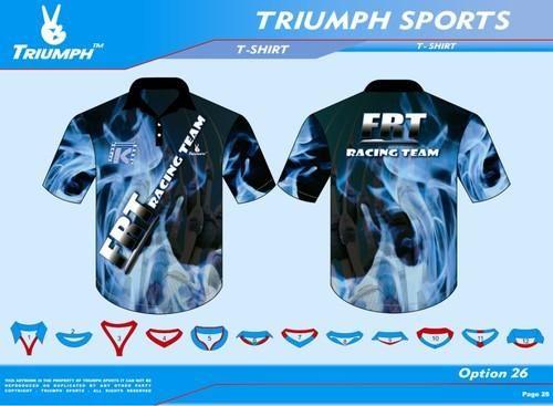 Best Design T-Shirts | Triumph T Shirt Embroidery Rs 400 Piece S Triumph Sportswear
