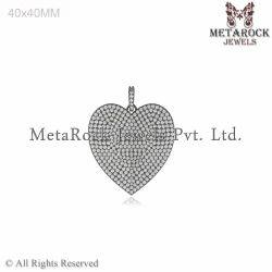 Pave Diamond Heart Shape Pendant