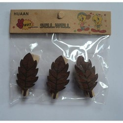 Book Mark Wooden Leaf
