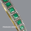 Diamond & Emerald Bangles