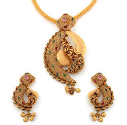 Gold pendant set gold gold jewellery jaysukhlal jadavji sons gold pendant set gold gold jewellery jaysukhlal jadavji sons in soni bazar rajkot id 4814054830 mozeypictures Images