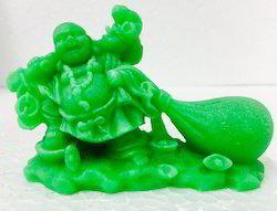 Green Marble Laughing Buddha Kuberar Happy Man Chinese