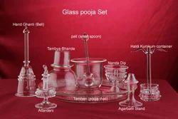 Glass Pooja Set