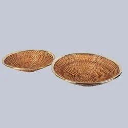 Deep Shallow Wicker Fruit Basket