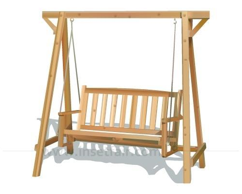 Genial Wooden Swing Chair, 210x128x215 Cm