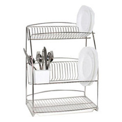 Stainless Steel 3 Tier Plate Rack Delhi Iron Store New Delhi Id