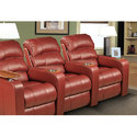 Red Home Theater Recliners- Style 802m
