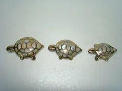 Brass MOP Turtle Trinket Box