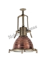 Traditional Pendant Lamp In Copper Antique