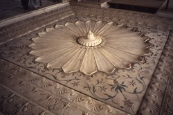 White Marble Floor Fountain