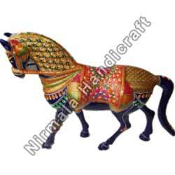 Handcrafted Metal Horse Statues