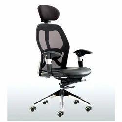 Black Rotatable Designer Office Chair