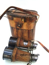 Brass Nautical Binocular 6 With Leathar Box