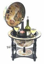 Standing Wine Nautical Decor Globe