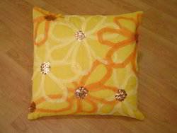 Hand Work Flower Cushion Cover