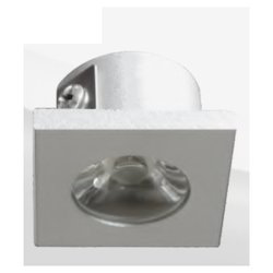 2W Button-Power Spot LED Square