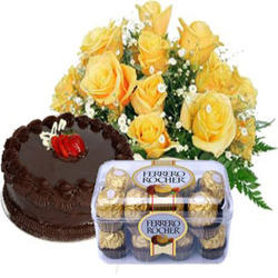 Send Super Combos Of Flowers Cakes To India Flower Bouquet Service
