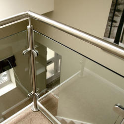 Round Baluster Glass Handrail