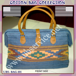Cotton Leather Bag