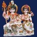 Divine Shiv Parvati Marble Statue
