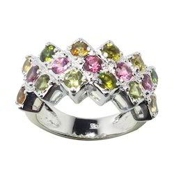 Tourmalie Antique Silver Ring