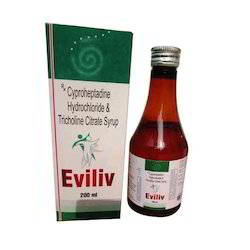 Eviliv Cyproheptadine HCL IP 2mg Tricholine Citrate 275mg Syrup, Packaging Type: Bottle, Packaging Size: 200 Ml